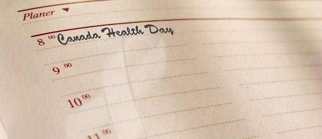Mental Health Events in day planner